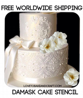 Damask Stencil, Cake Stencil, Wedding cake stencil,  Free worldwide shipping (1)